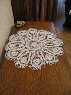 White Crochet Napkin, Crochet Table Doily, Handcrafted Home Decor by GalinaDolia, $65.00 USD