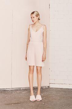 LUCIDA pleated strap dress  UNDRESS SS17 collection  www.iwearundress.com