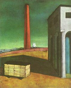 Giorgio de Chirico - Niepokój odjazdu, 1914.