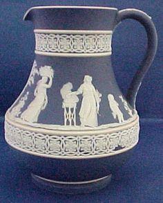 Etruscan-Shape Cobalt Wedgwood Pitcher  c.1895 Bleu Indigo, Wedgwood, Bleu Marine, Urn, Luster, Cobalt, Vases, Dark Blue, Shape