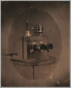 Antique and Classic Cameras / Tintype of a Stereo Camera c. 1870