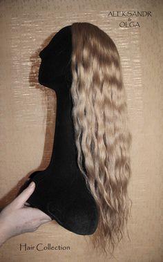 ПОЛУПАРИК combo (с имитацией кожи головы) - постиж, бежевый блонд (из натуральных волос) www.aleksandr-and-olga.ru www.livemaster.ru/hair-collection