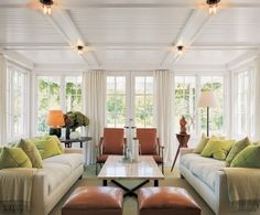 coffered ceiling infilled with bead board. by penelope