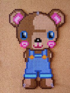 Teddy Bear Perler Beads by Marina N. Neira