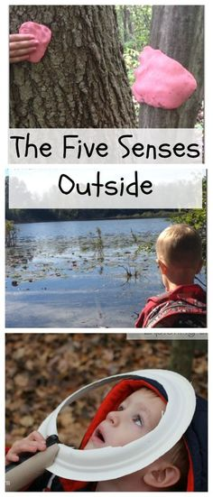 Get the kids outside to explore their 5 senses! These simple activities are great for nature walks, my preschooler loves exploring his five senses.