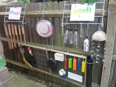 "Loving Cathy's Child Minding's music wall - shared by let the children play ("",)"