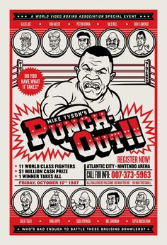 """Mike Tyson's Punch-Out!! print at the """"8-Bit & Beyond 2"""" exhibit by Bottleneck Gallery."""