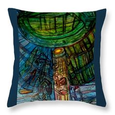 """somewhere out there Throw Pillow 14"""" x 14"""" by Stephanie Zelaya"""