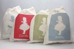 Tea Party Personalized Cotton Favor Bags Set of 6 by papernook Tea Party Favors, Tea Party Theme, Tea Party Birthday, Party Favor Bags, Birthday Favors, Birthday Stuff, Birthday Ideas, Goody Bags, Pink Birthday