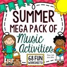 72 PAGES OF FUN! 68 WORKSHEETS! This is a huge pack of summer-themed worksheets that can be used to get students excited for summer break while ass...