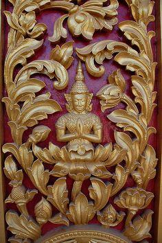 Detail of door ornamentation at the Royal Palace in Phnom Penh