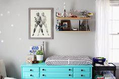 I love this decor (not for a nursery obviously) but definitely for a playroom or a bedroom