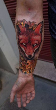Image result for fox tattoo forearm