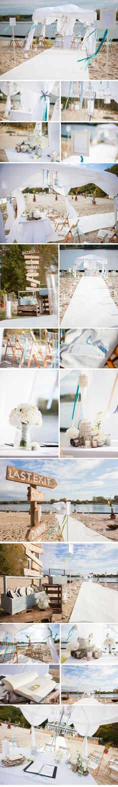 Rhein-weiss-Wedding-Brunch: Vintage Beach Zeremonie am Fühlinger See