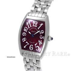 Franck Muller Cintrée Curvex ad: ¥245,000 Franck Muller Curvex Quartz 25MM Stainless Steel Ladies Watch Ref. No. 1752QZ; Steel; Quartz; Condition 1 (mint); Year 2008; With box; With papers; Location: