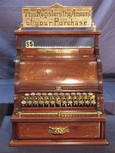 Antique Brass Cash Register Gallery