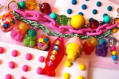 Gummi Bear Arm Candy Treasure Charm Bracelet  by athinalabella