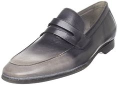 Cole Haan Men's Air Lorenzo Penny Slip-On Loafers,Grey/Black Ombre