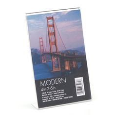 Clear+Acrylic+Photo+Holder:+4+x+6+inch+Vertical+Frame
