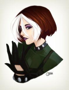 Rogue by QTori on DeviantArt Comic Book Girl, Comic Books Art, Comic Art, Gambit X Men, Rogue Gambit, Dc Comics, Comics Girls, Rouge Xmen, X Men Evolution Rogue