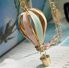 Hot New Fashion Women's Classical Style fire balloon necklace sweater chains