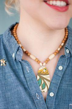 DIY Fashion: Decoupaged Fabric Necklace