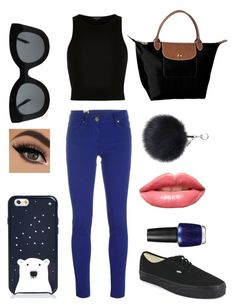 """""""Casual"""" by froggish2005 ❤ liked on Polyvore featuring M Missoni, Vans, Longchamp, CÉLINE, Kate Spade, LASplash and OPI"""