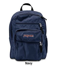 JanSport Big Student Solid Colors Backpack B1025 Navy -- This is an Amazon  Affiliate link 50bac928ad