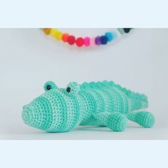 Corky the crocodile pattern is now available from my #etsyshop and from @lovecrochetcom He is super quick and easy to make   #amigurumi #crochet #crocodile #handmadetoys #kornflakestew  #patterns #handmade #diy #cuteness by kornflake_stew