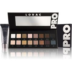 Lorac PRO Palette, aka my new obsession. Has 8 matte shades and 8 shimmer shades that look good on any skin tone. Super blendable and lasts all day. This is better than the Naked Palettes in my opinion.