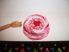 1:6 Dollhouse Miniature Handcrafted Valentines Strawberry Cake Barbie Food #SweetPeaToysMiniatures