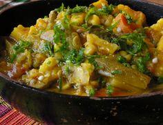 Legumes e Grão-de-Bico ao Curry