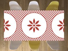 Ornament-Tischdecke. Design: Ornament Light 3 #ornament #tisch #designfolie #design #couchtisch #esstisch