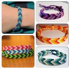 OMBRE FRIENDSHIP BRACELETS! Make yours today at myfbm.com #fashion #friendship #diy #craft