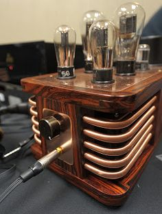 DIY Audio Electronics from Zynsonix.com, Steampunk Art & Design: Frank Cooters Headphone Amplifier