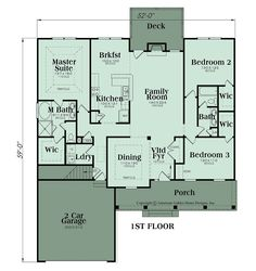 Attractive and comfortable, this Ranch house plan is designed for family living. The one story home features approximately 1,870 square feet of interior living space and there is an unfinished basement foundation with the same potential square footage as the main living floor. There are three bedrooms and two baths in the home along with …