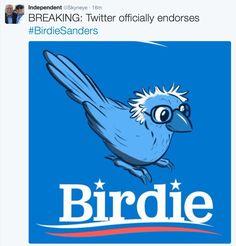 Bernie Sanders Greeted in Portland by a Friendly Bird - Willamette ...