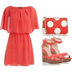 Coral Fun, created by styleofe on Polyvore