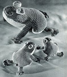 Crocheted Frogs Pattern   Crochet Patterns - free pattern