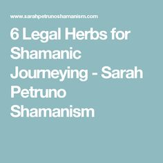 6 Legal Herbs for Shamanic Journeying - Sarah Petruno Shamanism