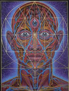 Alex Grey 2016 wall calendar features the psychedelic and visionary art of Alex Grey. Click through to see the most recent edition! Alex Grey, Alex Gray Art, Sacred Geometry Art, Sacred Art, Geometry Tattoo, Cosmic Art, Psy Art, Mystique, Process Art