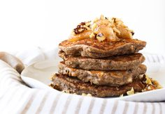 Apple Walnut Buckwheat Pancakes via RDeliciouskitchen.com @Julieharrington