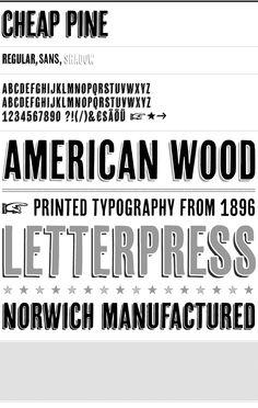 Cheap Pine font by HvD fonts
