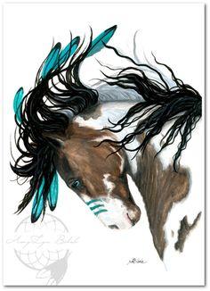 Majestic Pinto Turquoise War Paint Native American Spirit