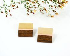 Lesbian earrings, oversized square stud earrings, trendy wooden studs soft pink earrings, Christmas gift for her, vegan gift Wood Earrings, Pink Earrings, Best Friend Gifts, Gifts For Friends, Zodiac Birthday Signs, Vegan Gifts, Perfect Gift For Her, Christmas Gifts For Her, Earrings Handmade