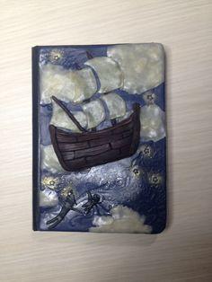 "Peter Pan Polymer Clay Journal, ""Creepy Tales"" collection, Quaderno di pasta polimerica, fiabe popolari di AllecramArt su Etsy"