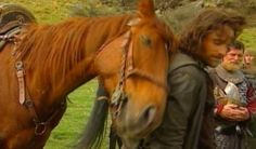 Viggo Mortensen (Aragorn) and his horse bonded so much while filming TLOTR, Viggo bought him when filming wrapped. (He also bought Arwen's horse for Liv Tyler's double, who loved the horse but couldn't afford it) Legolas, Aragorn Lotr, Thranduil, Gandalf, Fellowship Of The Ring, Lord Of The Rings, Lotr Cast, J. R. R. Tolkien, Into The West