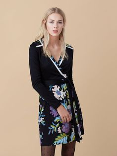 Banded Wrap Dress