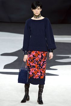 Chanel Fall/Winter 2013 Ready-to-Wear Collection via Designer Karl Lagerfeld / Modeled by Janice Alida