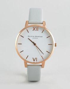 Olivia Burton Vegan Big Dial Gray and Rose Gold Watch 8d245d453a7